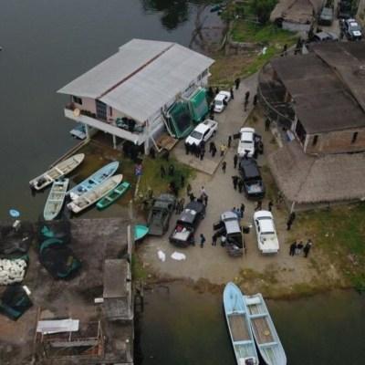 Localizan 2 cuerpos en fosa clandestina y aseguran arsenal en San Pedro Ixcatlán, Oaxaca