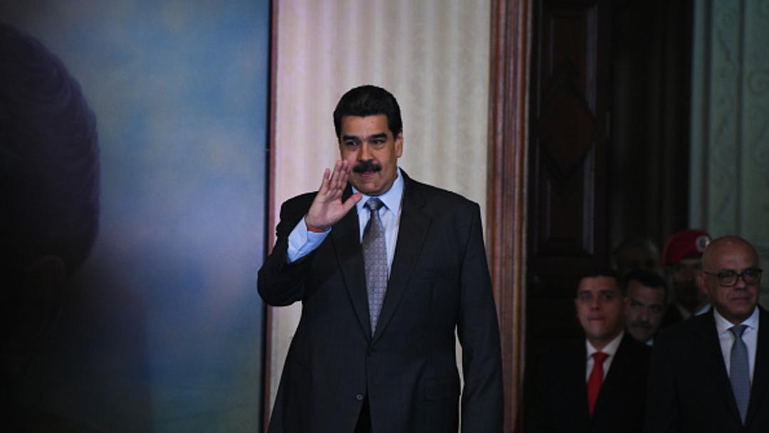 """Imagen: La fuerza armada venezolana """"no se va a arrodillar más nunca a los gringos, ni se va a poner más nunca al servicio de la oligarquía de este país"""", sostuvo Maduro, 17 de noviembre de 2019 (Getty Images, archivo)"""