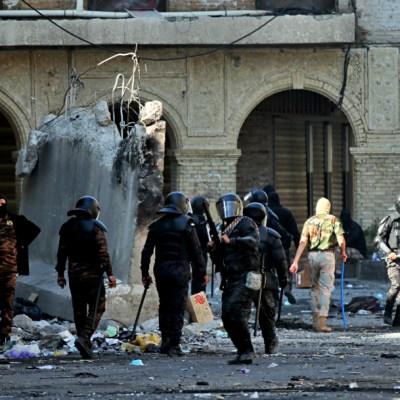 Manifestantes chocan con policías en Bagdad, hay 3 muertos