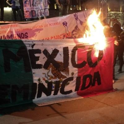 Día contra la violencia a las mujeres en México, marcado por el vandalismo