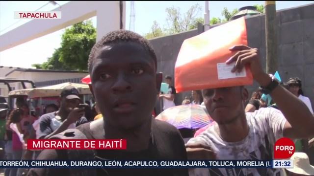 Foto: Migrantes Haitianos Exigen Tarjetas Residencia Permanente Chiapas 8 Noviembre 2019