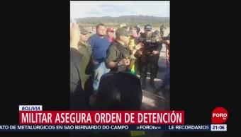 FOTO: Militar asegura que existe orden de aprehensión contra Evo Morales, 10 noviembre 2019