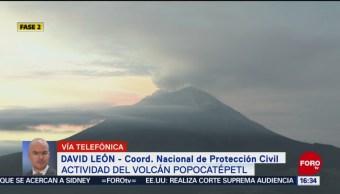 FOTO: Monitorean actividad volcán Popocatépetl,
