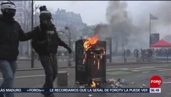 """FOTO: Movimiento de """"Chalecos amarillos"""" cumple un año con protestas, 17 noviembre 2019"""