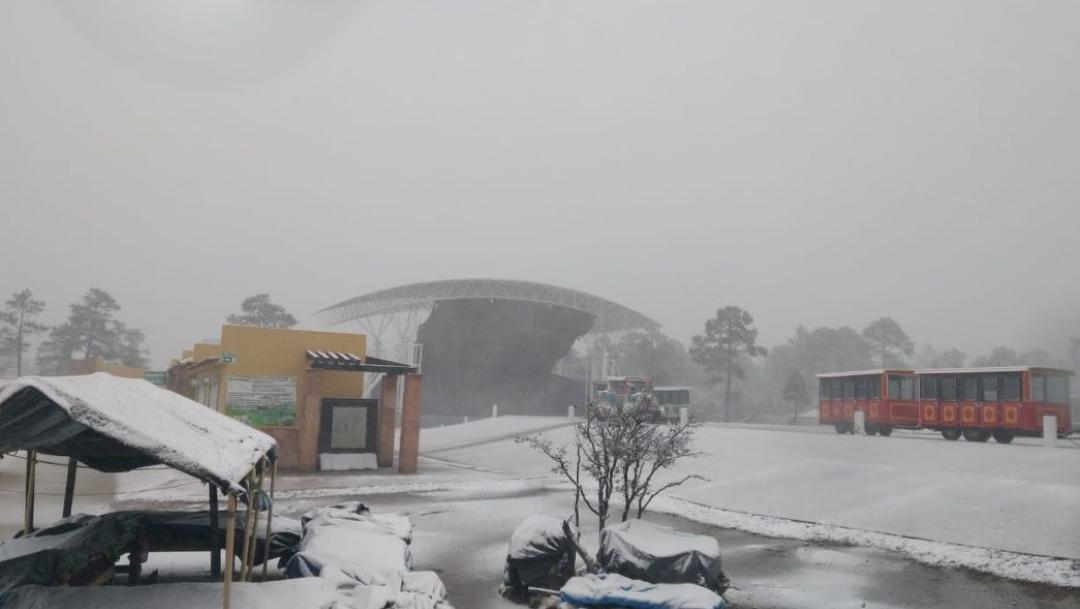 Foto: Se esperan fuertes lluvias y nevadas en Chihuahua, 27 de noviembre de 2019 (Twitter @webcamsdemexico)