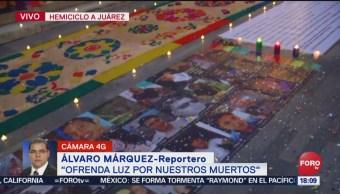 FOTO: Ofrenda luz por nuestros muertos en el Hemiciclo Juárez, 16 noviembre 2019
