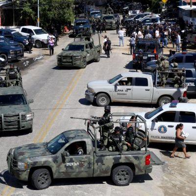 Detienen a 11 integrantes de 'Los Dumbos' durante operativo en Xaltianguis