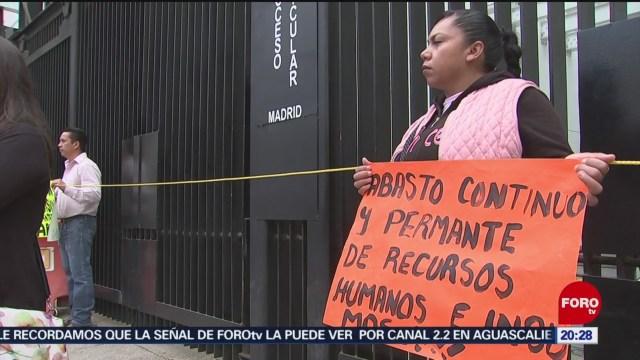 FOTO: Padres de niños con cáncer bloquearon accesos al Senado, 12 noviembre 2019