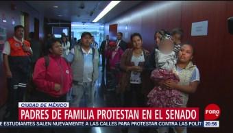 Foto: Padres Niños Cáncer Manifestaron Senado Hoy 7 Noviembre 2019