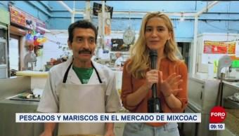 Pescados y mariscos en el Mercado de Mixcoac
