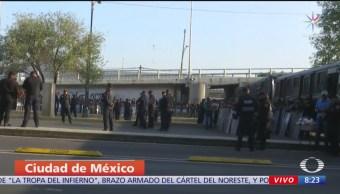 Policía CDMX impide salida de autobuses de campesinos de San Lázaro