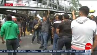 Policías federales suspenden diálogo con autoridades CDMX durante bloqueo en AICM