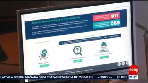 FOTO: Presentan nuevo sistema de denuncia digital en CDMX, 11 noviembre 2019