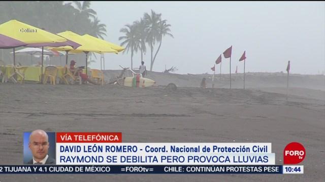 """FOTO: Protección Civil pide mantener precauciones por baja presión """"Raymond"""", 17 noviembre 2019"""