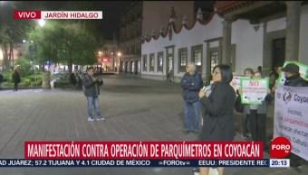 FOTO: Realizan manifestación contra parquímetros en Coyoacán, 13 noviembre 2019