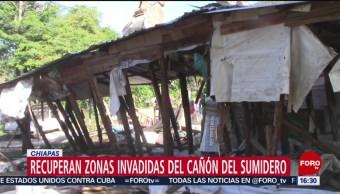 FOTO: Recuperan Áreas Naturales Invadidas Cañón Sumidero Chiapas