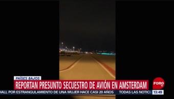 FOTO: secuestro avión Ámsterdam