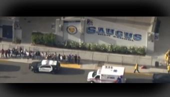 FOTO Reportan tiroteo en escuela de Santa Clarita, California (NBC)