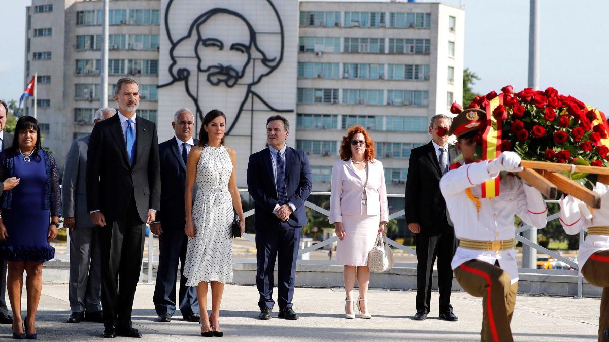 Los Reyes de España durante su visita a La Habana