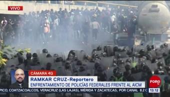 FOTO: Enfrentamiento Entre Policías Federales Capitalinos Frente AICM,
