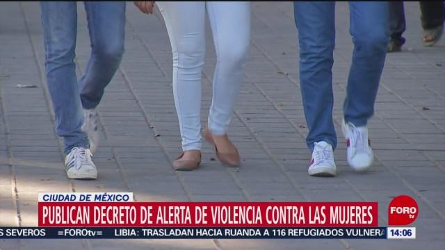 Foto: Se publica decreto alerta género CDMX