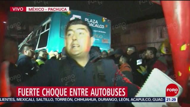 FOTO: Se registra altercado en accidente de la México-Pachuca, 18 noviembre 2019