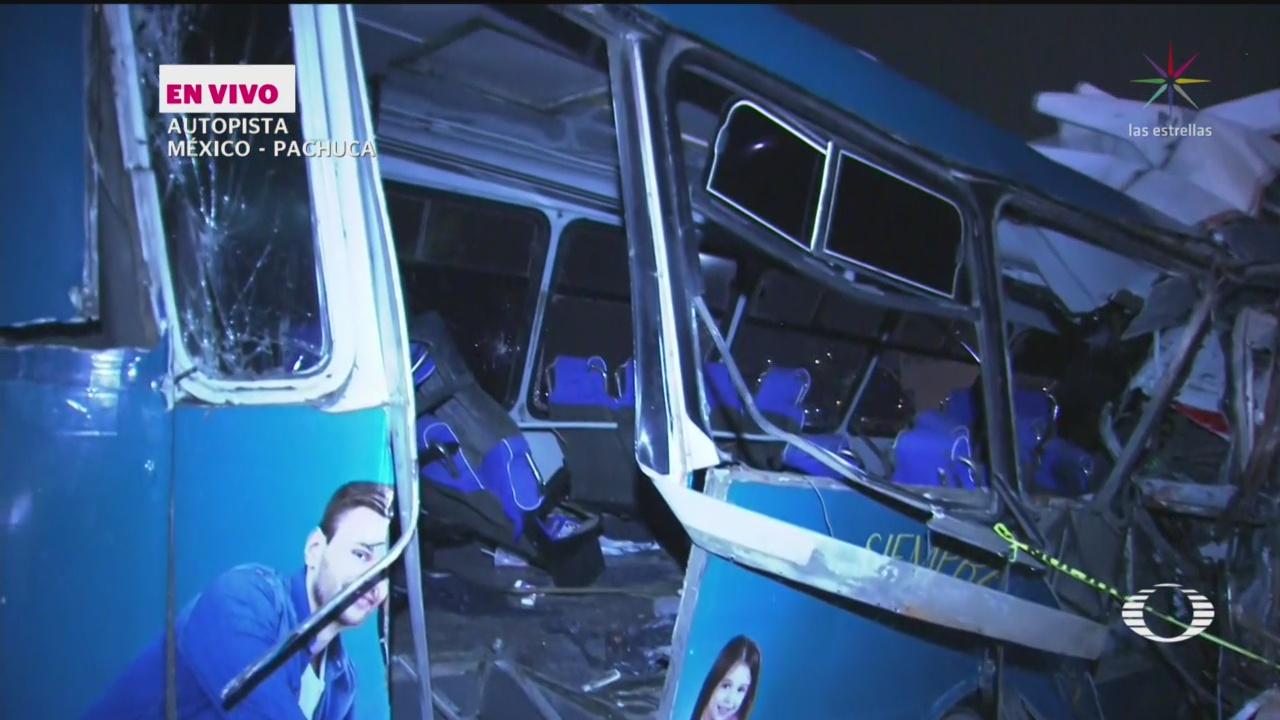 Se registra choque en la México-Pachuca; hay 11 muertos - Noticieros Televisa