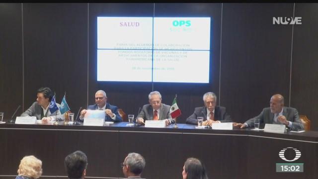 FOTO: Secretaría de Salud y OMS firman convenio para compra de vacunas, 28 noviembre 2019