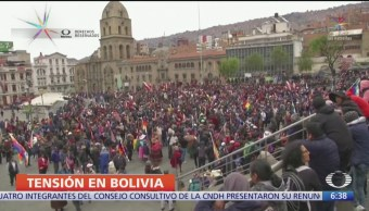 Foto: Seguidores Evo Morales protestan calles La Paz