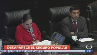 Foto: Senado aprobó reformas para desaparecer Seguro Popular crear Insabi