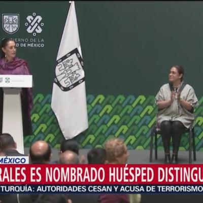Sheinbaum nombra a Evo Morales Huésped Distinguido de la CDMX