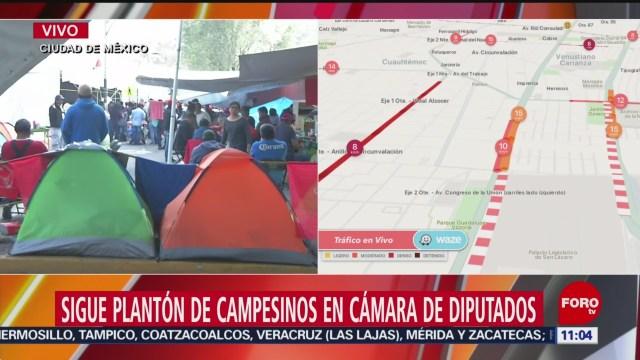Foto: Sigue platón campesinos Cámara de Diputados