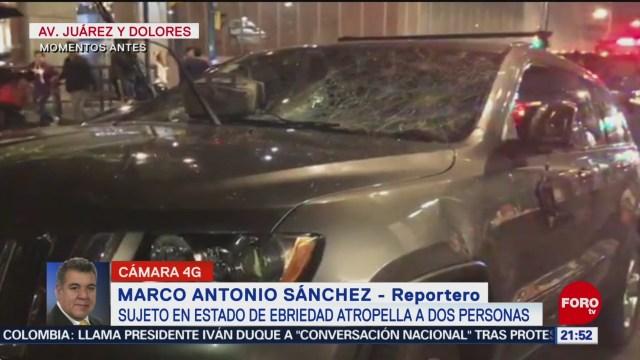 FOTO: Sujeto estado ebriedad atropella dos personas cerca Barrio Chino,