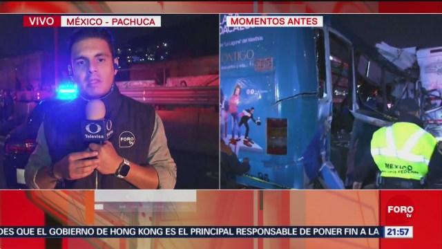 FOTO: Suman 11 muertos por accidente en la México-Pachuca, 18 noviembre 2019