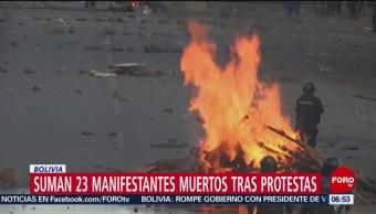 FOTO:Suman 23 muertos durante protestas en Bolivia, 17 noviembre 2019