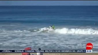 Foto: Tiburón Gata Sorprende Surfistas Oaxaca 5 Noviembre 2019