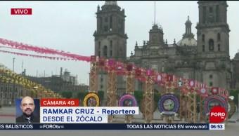 FOTO:Todo listo para inaugurar la Megaofrenda en el Zócalo de la CDMX, 1 noviembre 2019