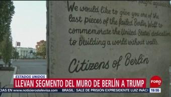 FOTO: Trasladan pedazo del Muro de Berlín a la Casa Blanca, 9 noviembre 2019