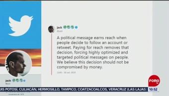 FOTO: Twitter dejará de difundir publicidad política, 2 noviembre 2019