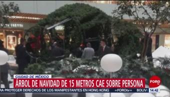 FOTO: Imágenes Árbol De Navidad Cae CDMX
