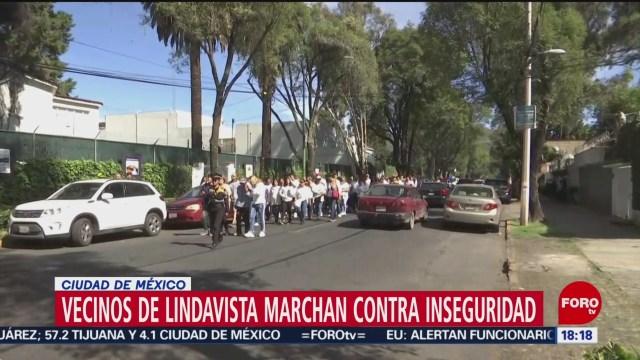FOTO: Vecinos de Lindavista marchan contra la inseguridad, 10 noviembre 2019