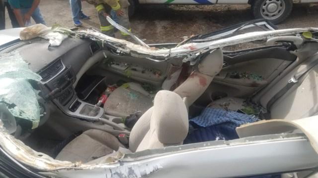Foto: Accidente carretero en Jalisco deja tres personas muertas, 17 de noviembre de 2019, (Noticieros Televisa)