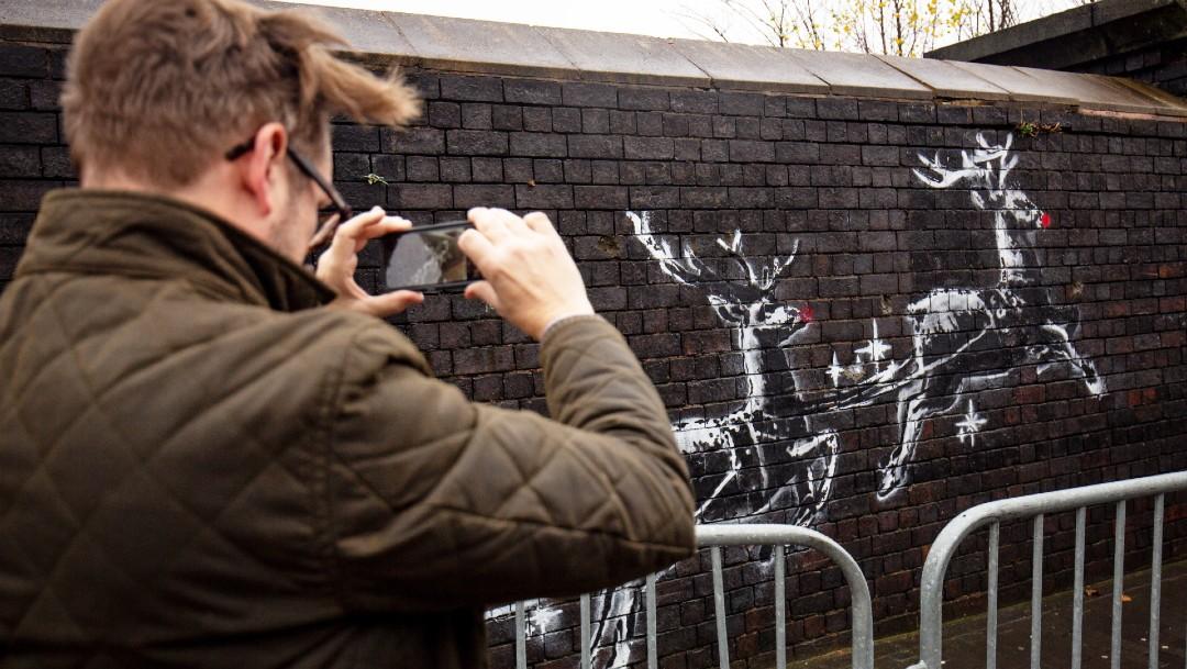 Banksy nuevo mural navidad