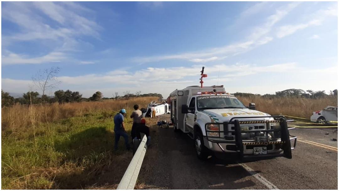 Foto: Varias personas fallecen en accidente carretero en Chiapas, 29 de diciembre de 2019 (Protección Civil Chiapas)
