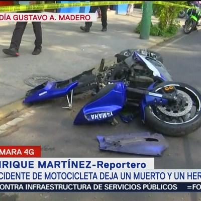 Accidente de motocicleta deja un muerto y un herido en la GAM