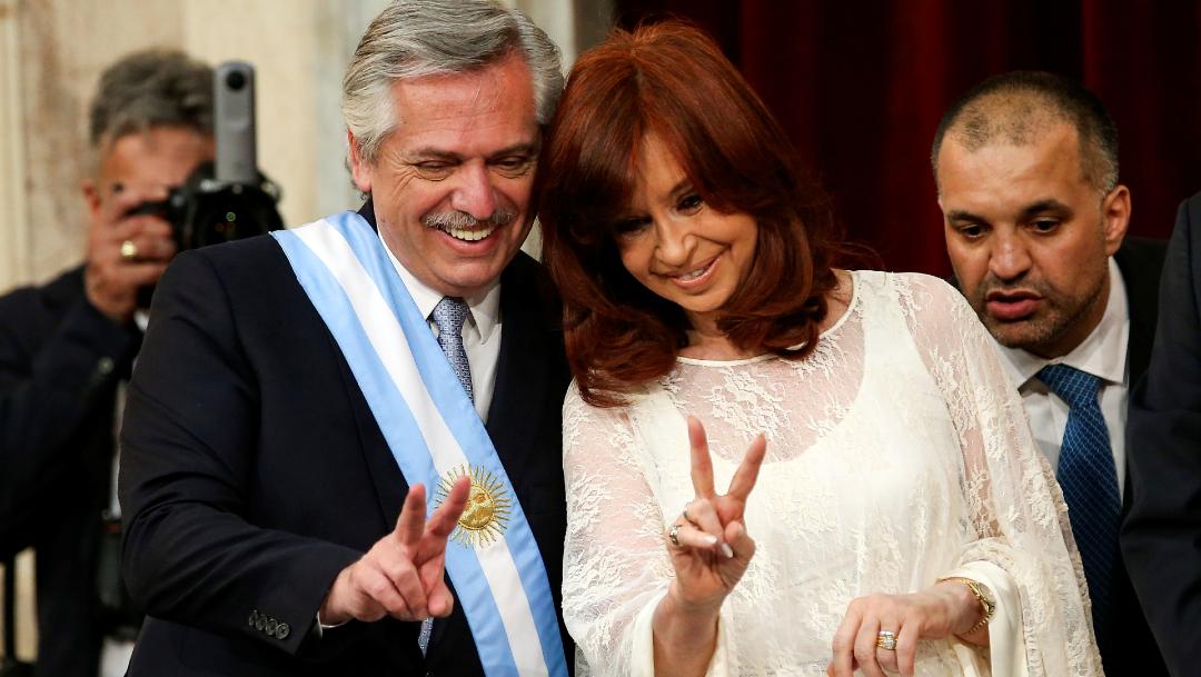 FOTO Alberto Fernández asume como presidente de Argentina, Cristina Fernández como vicepresidenta (Reuters)