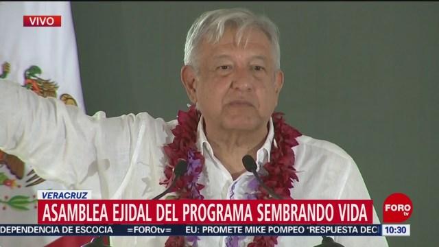 FOTO: AMLO encabeza asamblea ejidal en Hidalgotitlán, Veracruz, 15 diciembre 2019