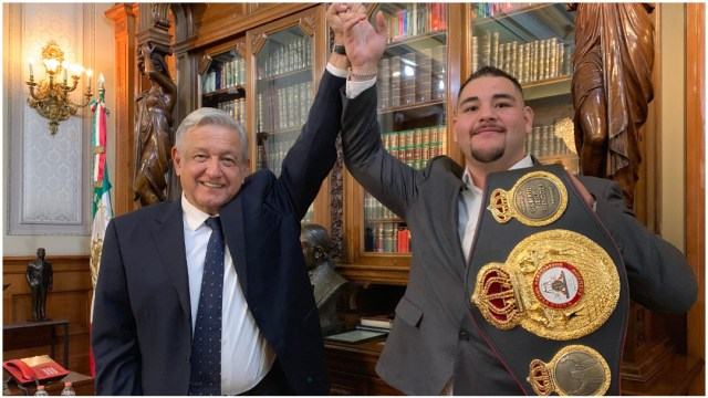 Imagen: El presidente López Obrador envió mensaje a Andy Ruiz tras su derrota, 7 de diciembre de 2019 (FOTO: PRESIDENCIA /CUARTOSCURO.COM)