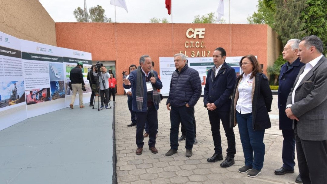 Foto: AMLO visita central de ciclo combinado El Sauz, Querétaro