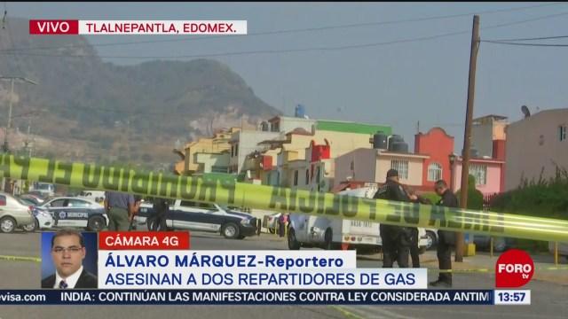 asesinan a dos repartidores de gas en tlalnepantla edomex